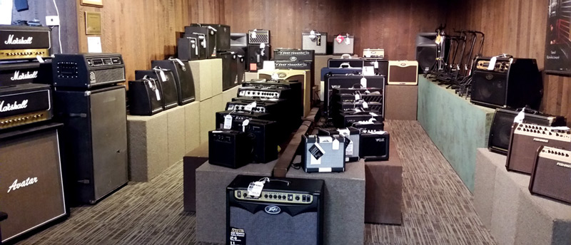 Amps at Arthur's Music Store in Indianapolis, IN