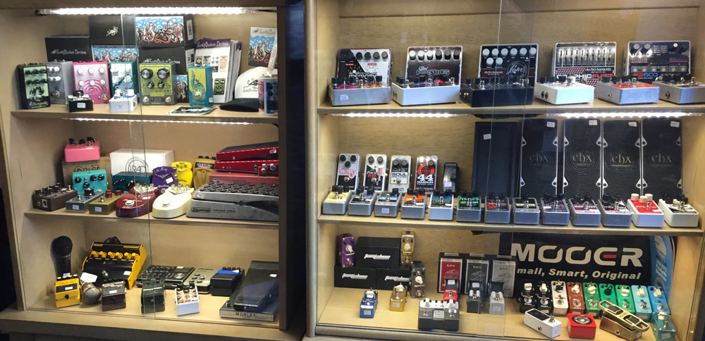Guitar pedals and accessories at Collar City Guitars