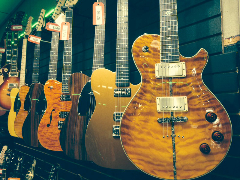 Michael Kelly 1950s electric guitars and Patriot guitars available at Draisen Edwards Music Center