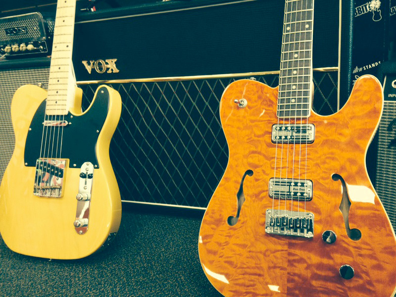 Vintage style Michael Kelly guitars - 1950s and TV Jones 50 electric guitars - available at Draisen Edwards Music Center