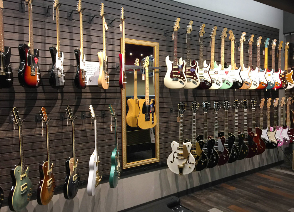 Electric guitars and Michael Kelly guitars at Ernie Williamson Music
