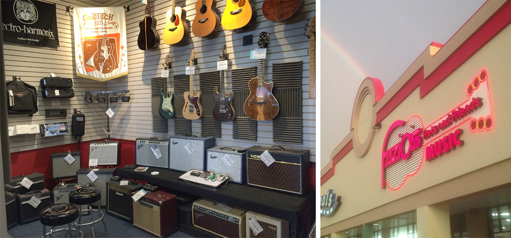 Michael Kelly 1950s and 1960s electric guitars at Fazio's Music in Ellisville, MO