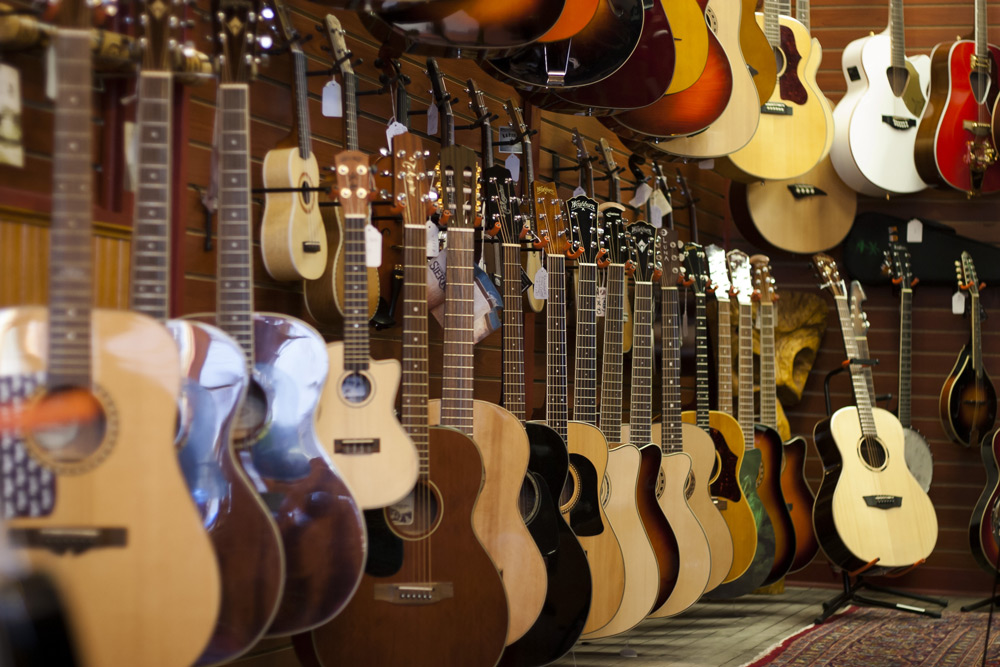 Acoustic guitars at HD Custom Guitar Supply