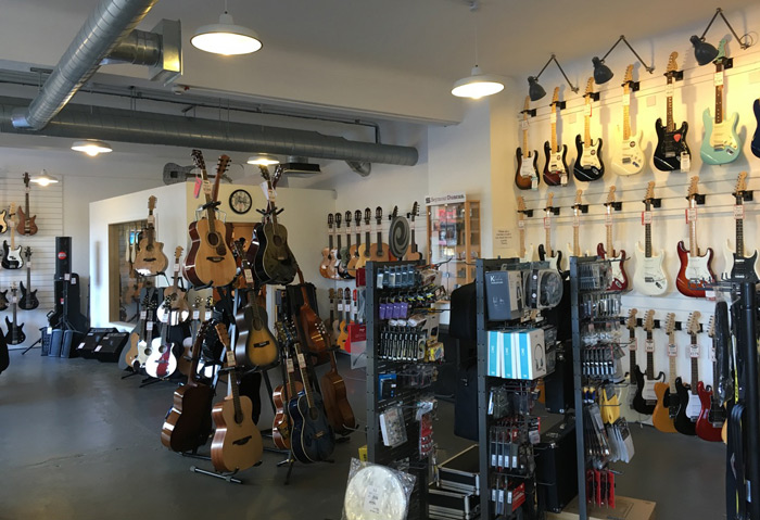 Electric guitars, acoustic guitars, and guitar accessories at Merchant City Music