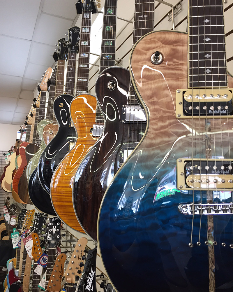 Michael Kelly Patriot electric guitar selection at Pfabe's in Painesville, OH
