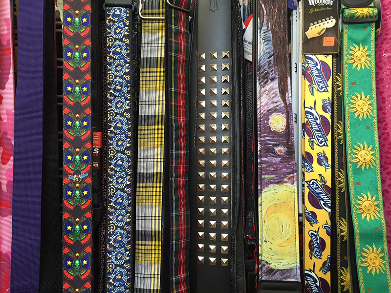 Pfabe's selection of guitar straps