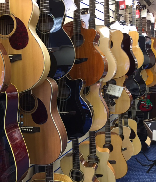 RST Music Ltd stock of acoustic guitars