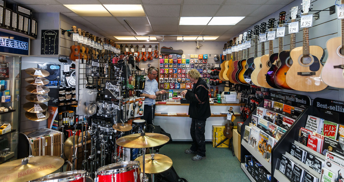 Acoustic guitars and guitar accessories at Strum & Bass in Gillingham, UK