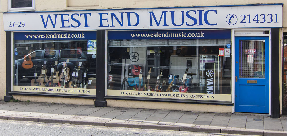 West End Music store in Ipswich, Suffolk, UK