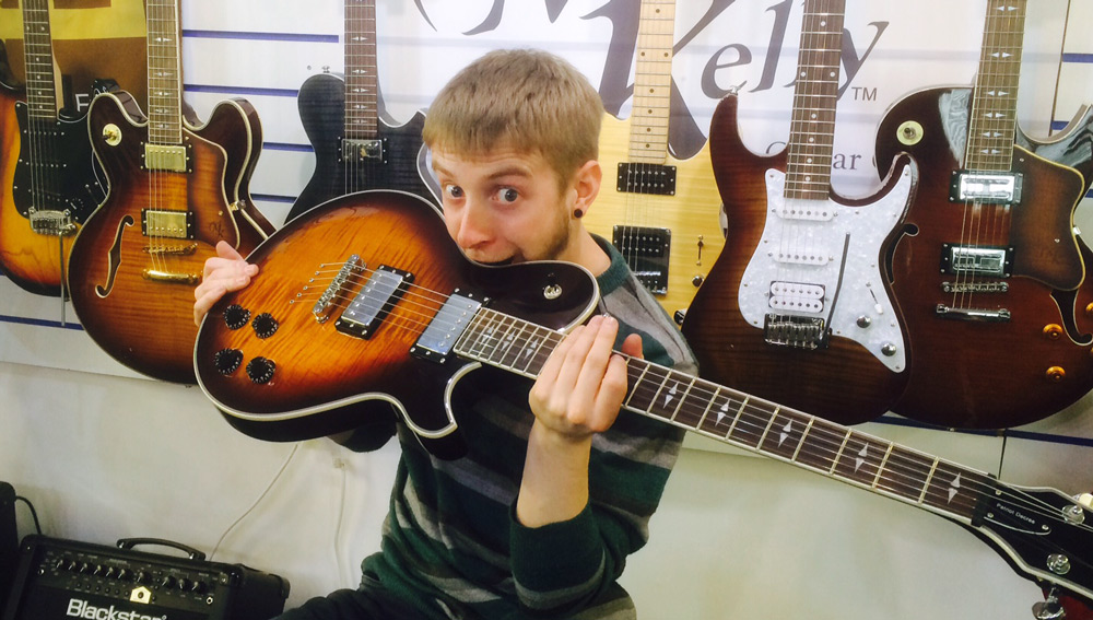 Michael Kelly Patriot electric guitars at West End Music