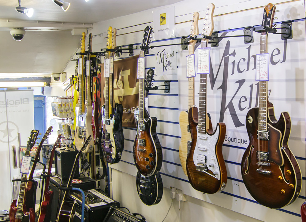 West End Music has a wide selection of electric guitars including strat and tele style models