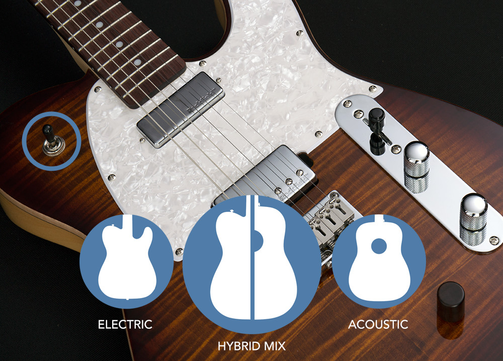 glam mk55hyteb 2new2 hybrid 55 electric guitar with acoustic tones michael kelly Ernie Ball Wiring Diagram at crackthecode.co